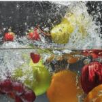 Desinficer frugt og grøntsager med brintoverilte og eddike