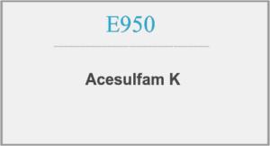 Acesulfam K et kunstigt sødestof E950